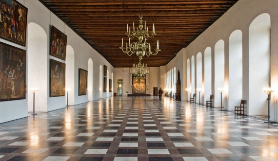 The ballroom was a gift of love from Frederick II to his wife Queen Sophie